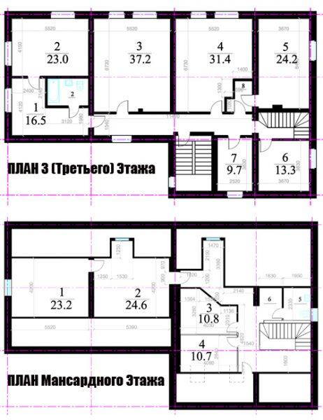 3-й этаж и мансарда